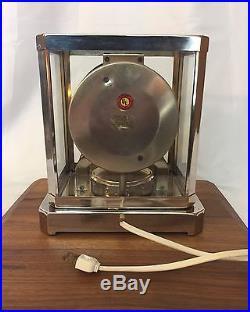 Vtg Glass MasterCrafters Clock Art Deco Mid Century Mod Brass Chrome Atmos style