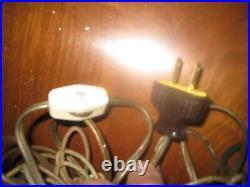 Vtg MID Century Amber Glass Hanging Swag Lamp