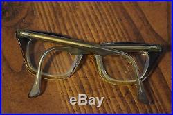 Vtg Mid-Century Bausch & Lomb Horn Rimmed Safety Glasses Rockabilly 46 20 5 1/2