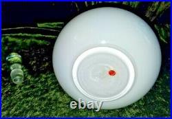 Vtg Mid Century Modern Empoli White Cased Glass Genie Bottle Decanter 22.5