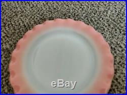 Vtg. /Mid Century Pink HAZEL ATLAS 24 pcs Mixed Dish Set Crinoline Ruffled