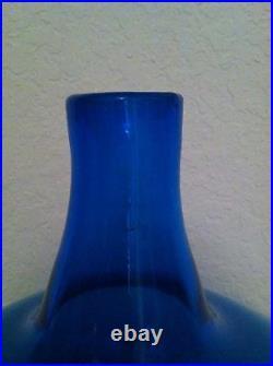 Vtg. Rare Blenko Art Glass Huge Decanter With Air Twist Stopper Mid 20th Century