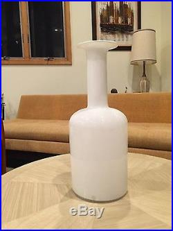 Vtg mid century modern modernist otto brauer gul vase 20 huge label residue 60s