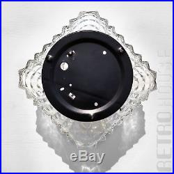 Wall Ceiling Light Lamp Thick Crystal Glass Square Mid-Century Modern Vintage