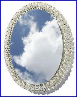 Wall Mirror Lighted Glass Blooms by Emil Stejnar Rupert Nikol Mid-Century Modern