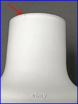 White Cased Glass Pendant Light Mid Century Modern Danish Peill Putzler Era Vtg