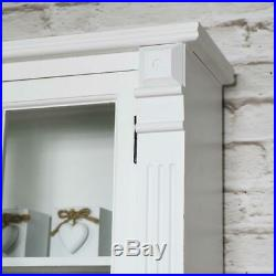 White painted glass bathroom cabinet cupboard display vintage furniture storage