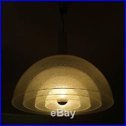 XL Mid Century CARLO NASON MAZZEGA Peleguso Glass CHANDELIER Pendant Lamp MURANO