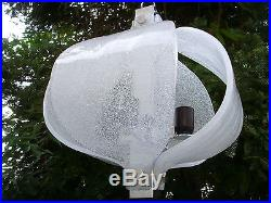 XL Mid Century KAISER Murano Ice Glass Chandelier Pendant Lamp Nason Era Kalmar