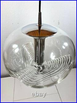 XL Peill Putzler Op Art Chandelier Space Age Pendant Lamp Murano Era Mid Century