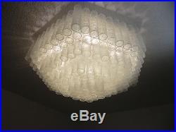 XXL Mid Century Glass Lamp Ice Glass Doria O